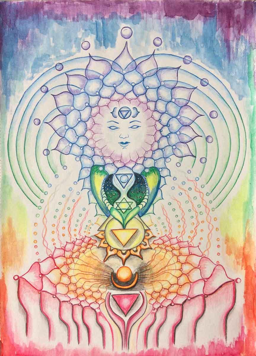 Chakra Goddess -Print, Fine Art Print, Giclee Print, Canvas Print