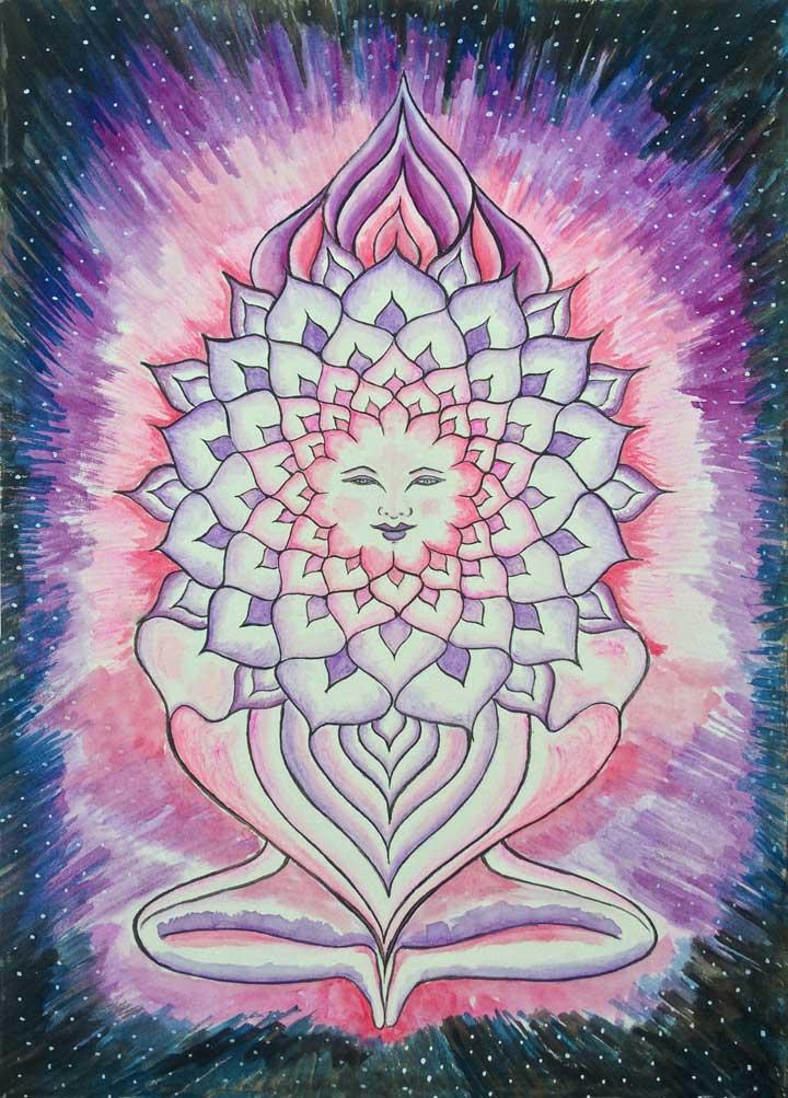 Goddess of Shashara- Crown Chakra - Print, Fine Art Print, Giclee Print, Canvas Print