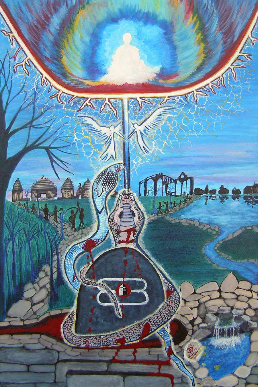 Divine Soul Mates- Print, Fine Art Print, Giclee Print, Canvas Print